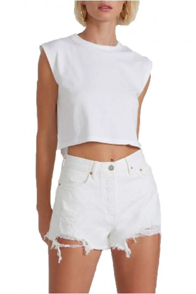 Grlfrnd - Helena High Rise Cut Off Short - Pierre