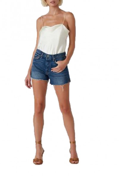Grlfrnd - SP19A - Helena High Rise Cut Off Short - Miles Away