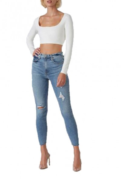 Grlfrnd - Kendall High Rise Skinny Crop Jean - Say You Will