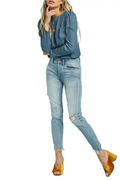 Pistola - Nico High Rise Mom Fit Pant - Bluegrass
