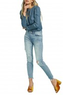 Pistola - RE18A - Nico High Rise Mom Fit Pant - Bluegrass