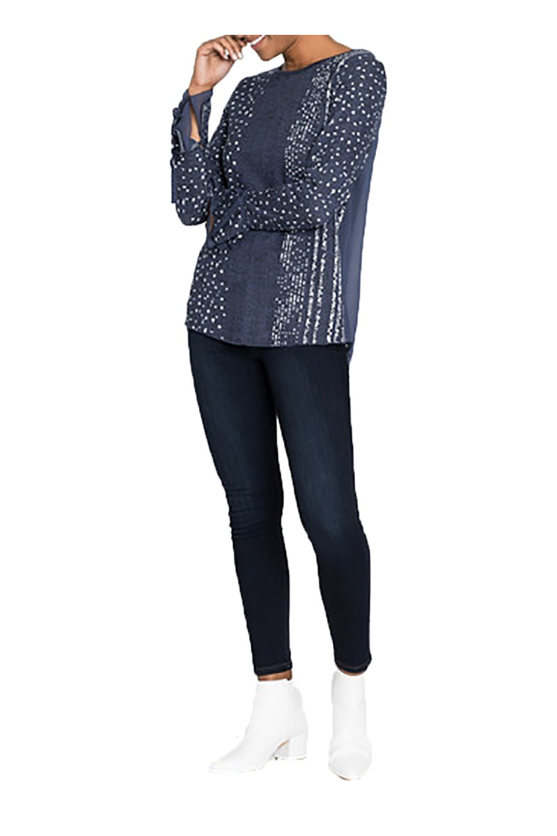 Nic + Zoe - Dotted Line Top - Multi
