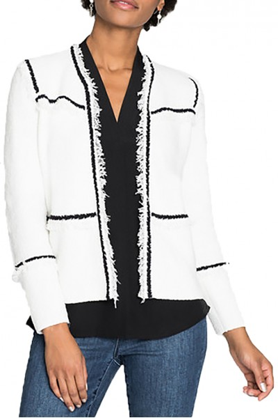Nic + Zoe - First Class Jacket - Paper White