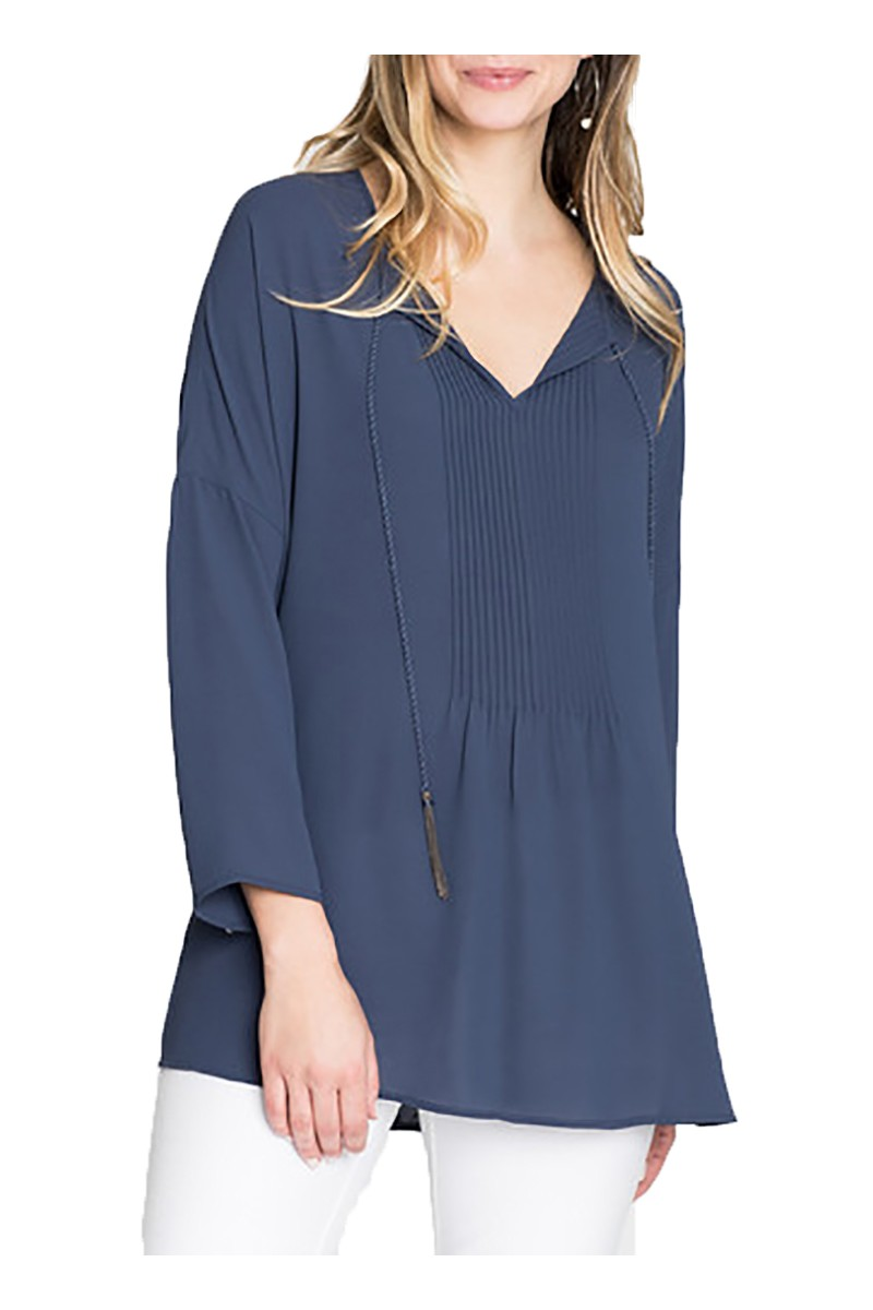 Nic + Zoe - Up Front Top - Navy