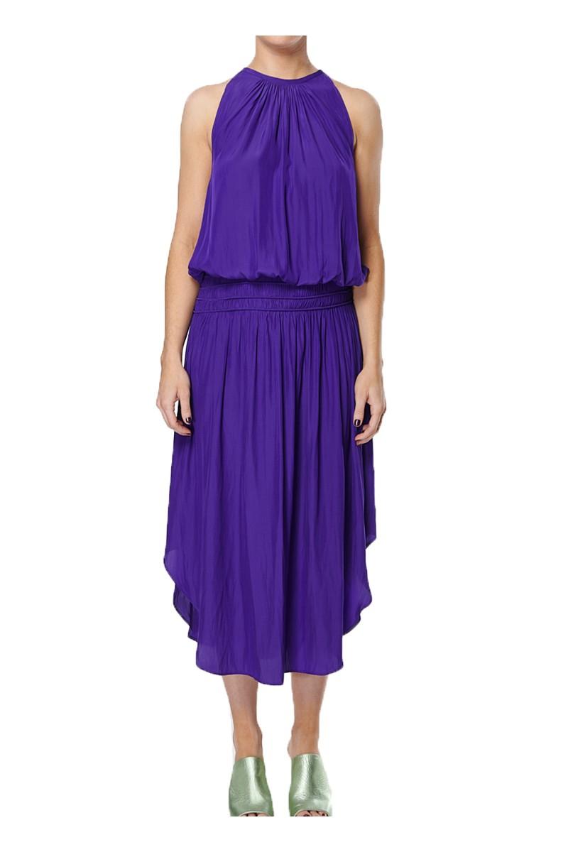 Ramy - SP19B - Audrey Dress - Bright Purple