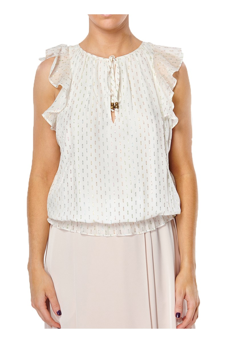 Ramy - Cecily Multi Lurex Top - Ivory