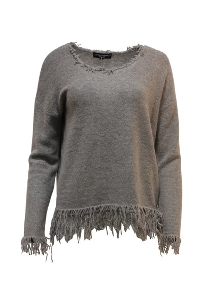Central Park West - Fringe Scoop Neck Sweater