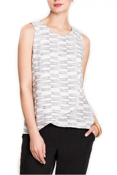 Nic + Zoe - Little Lines Tank - Neutral Mix