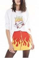 Wildfox - SP19B - Burning Love Sommers Sweatshirt - Vanilla
