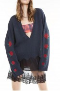 Wildfox - SP19B - Palmetto Roses Sweater - Clean Black