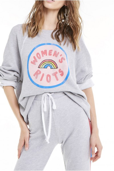 Wildfox - Women's Riots Sommers Sweatshirt - Heather