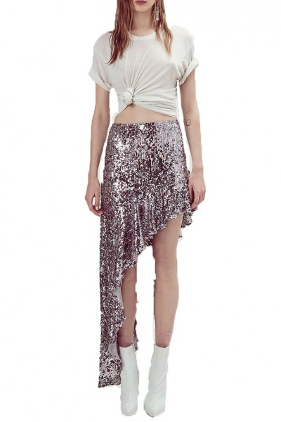 For Love And Lemons - Women's Showtime Maxi Skirt - Sparkle
