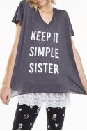 Widfox - SP19C - Keep It Simple Sister Romeo V Neck Tee