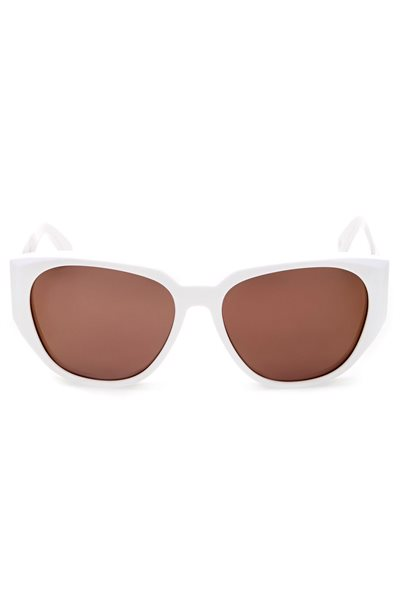 Wildfox Sunglasses - Dionne Deluxe Frame - White / Gold Mirror