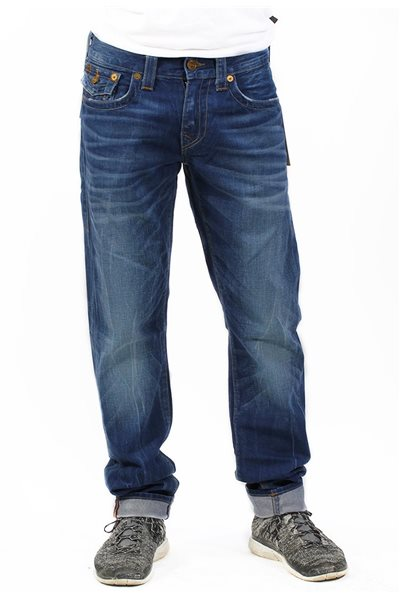 Final Sale True Religion - Geno W/Flap Slim BWSM Cobalt Shadows Men's Jeans