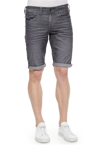Final Sale True Religion - Black wash Geno Slim Short ABU Washed Black Men's Shorts