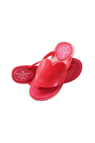 Melissa Black X Vivienne Westwood Anglomania Flip Flop - Red