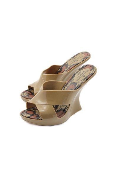 Melissa Black X Vivienne Westwood Wedge Shoe - Brown
