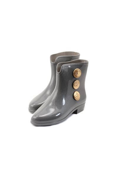 Final Sale Melissa Black X Vivienne Westwood Ankle Boot lii - Gray