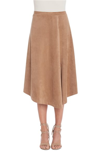 Nic+Zoe - Suedette Skirt - Dark Mochachino