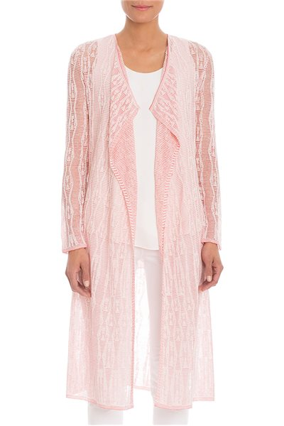 Final Sale Nic+Zoe - Texture Revival Cardigan - Spiced Rose