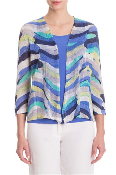 Nic+Zoe - Stripe Scope Cardy - Multi
