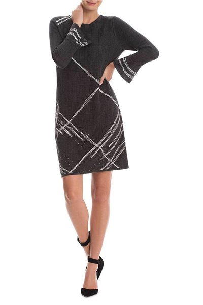 Final Sale Nic+Zoe - Checked Cuff Dress - Multi