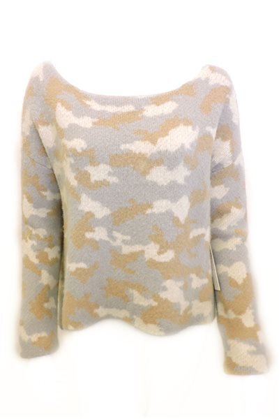 Central Park West - Camo Sweater - Camel