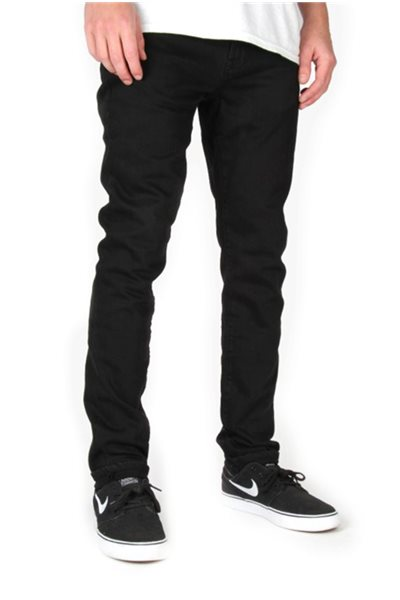 Final Sale Waven - Mens Verner Skinny Jeans - True Black