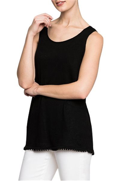 Final Sale Nic + Zoe - Trimmed Tank - Black