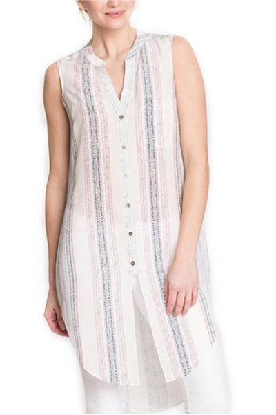 Final Sale Nic + Zoe - Stitch Lines Tunic Tank - Multi