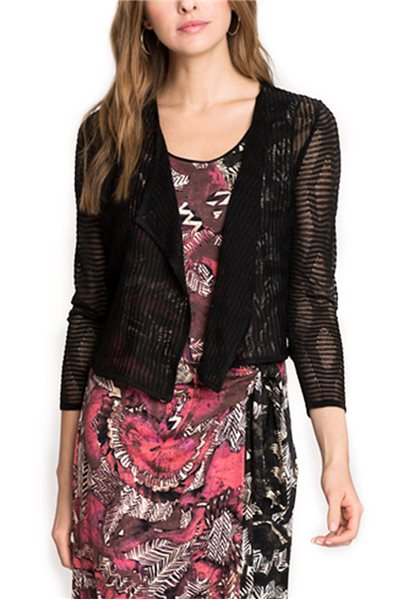 Nic + Zoe - In The Clouds Cardy - Black Onyx