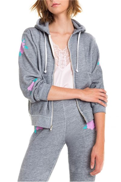Wildfox - Swans Crossing Regan Zip Hoodie - Heather