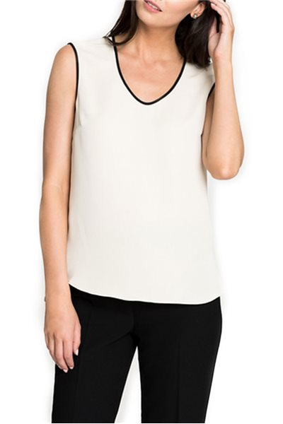 Final Sale Nic + Zoe - Tipped Top - Creme Brulee