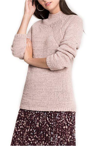 Final Sale Nic + Zoe - Power Move Pullover - Light Quart