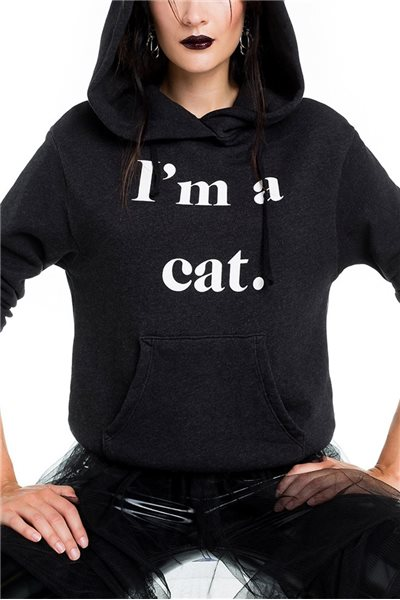 Wildfox - Guess What I Am Cuddles Cat Hoodie - Black