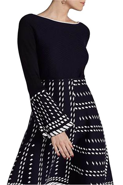 Final Sale Nic + Zoe - Women's Stretchy Knit Falling Star Blouse - Multi