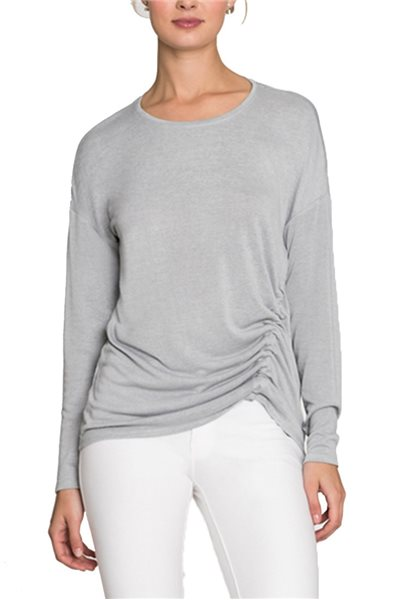 Nic + Zoe - Women's Long Sleeve Snow Fall Cord Top - Icy Grey