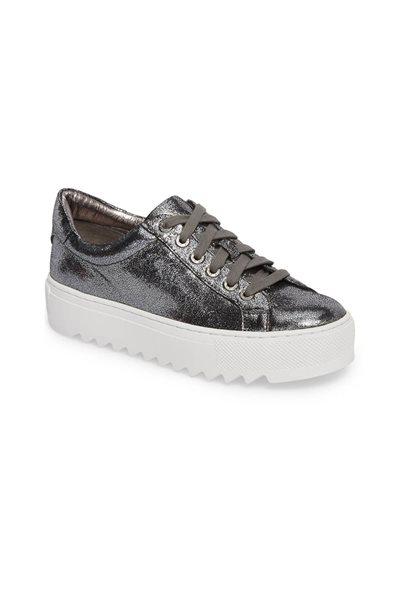 Final Sale Jslides - Sapphire Platform Sneaker - Pewter