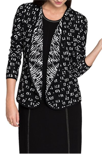 Nic + Zoe - Women's Night Sky Reversible Cardy - Multi