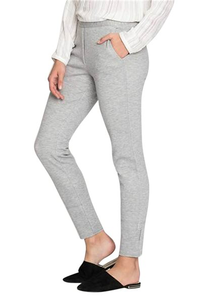 Nic + Zoe - Women's Modern Knit Pant - Heather - Grey