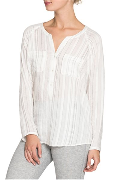 Nic + Zoe - Women's New Start Top - Paper white