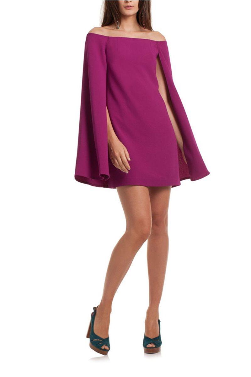 Trina Turk - Women's Evening Gown Sculpture Dress - Plum