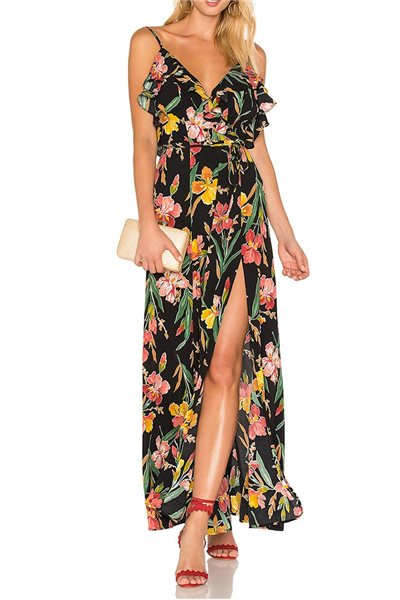 Final Sale Privacy Please - Women's Karen Dress - Black - Floral