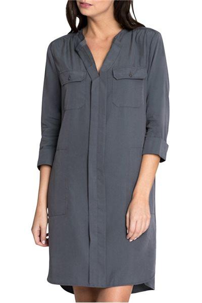 Final Sale Nic+Zoe - Women's Wanderlust Shirt Dress - Ink