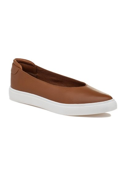Final Sale JSlides - Gwen Leather Sneakers - Tan