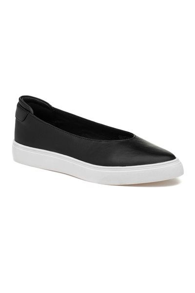 Final Sale JSlides - Gwen Leather Sneakers - Black