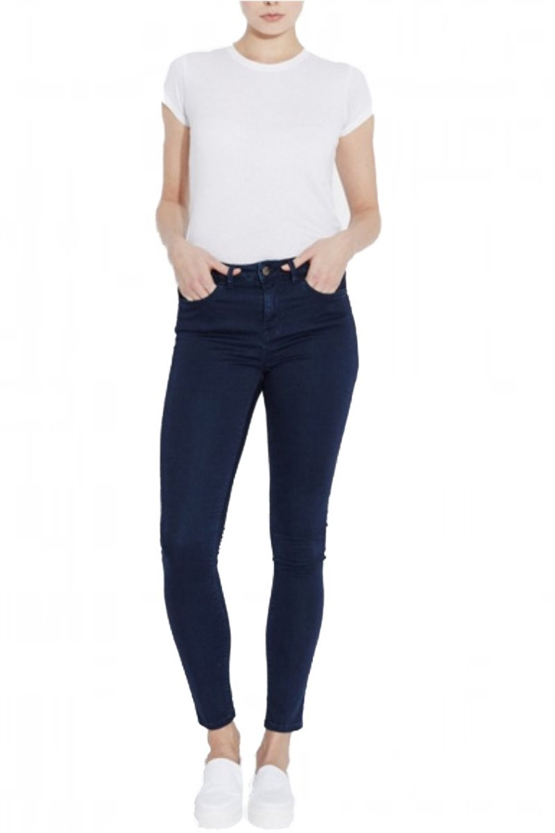 Waven - Women's Asa Mid Rise Skinny Jeans - Coated Navy