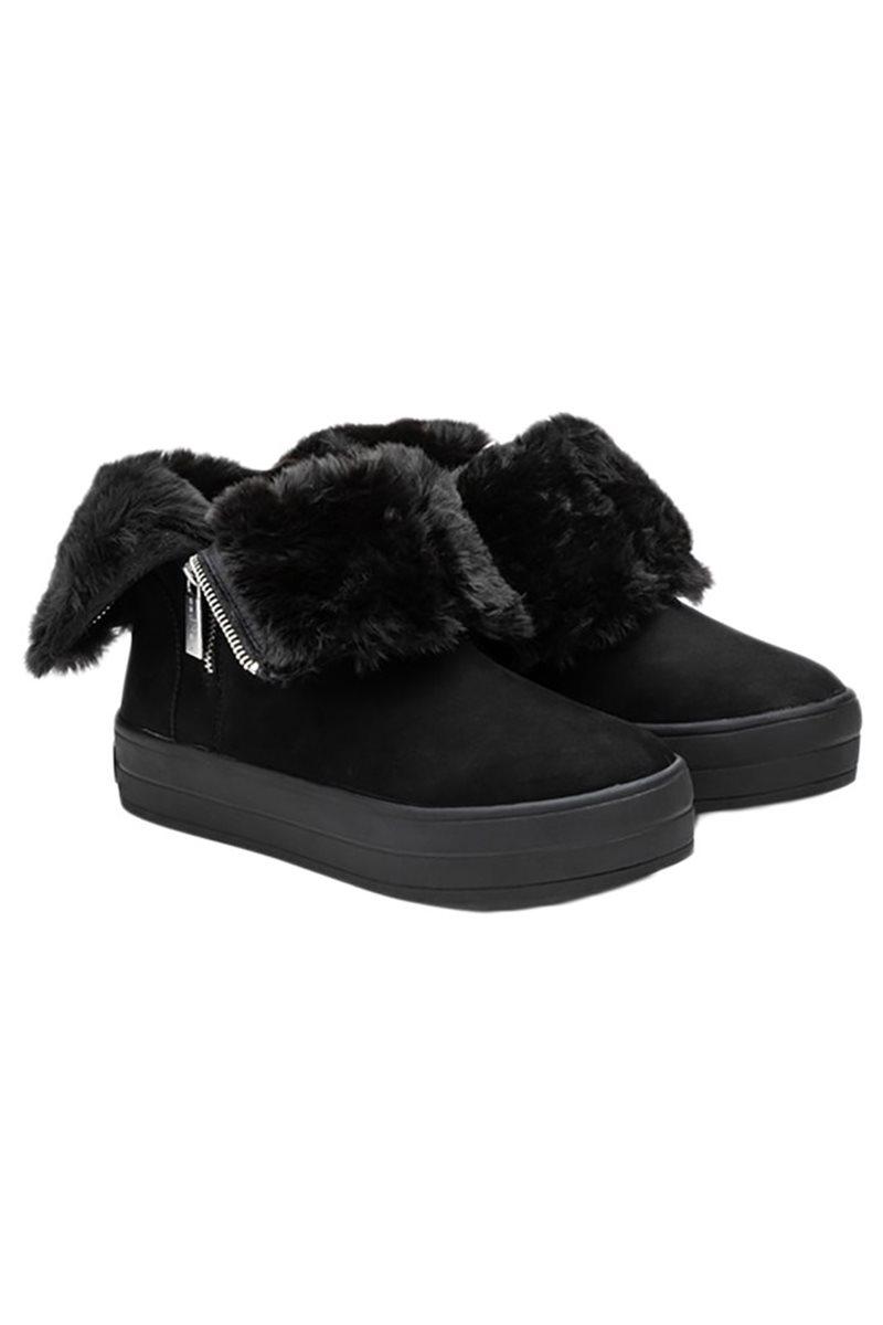 J Slides - Women's Henley Boots - Black Nubuck