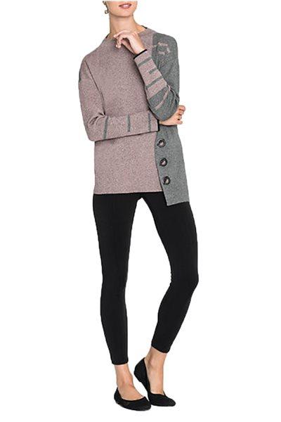 Nic+Zoe - Women's Toggled Block Top - Soft Blush